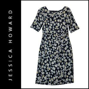 Jessica Howard Women's Floral Short Sleeve Dress 8
